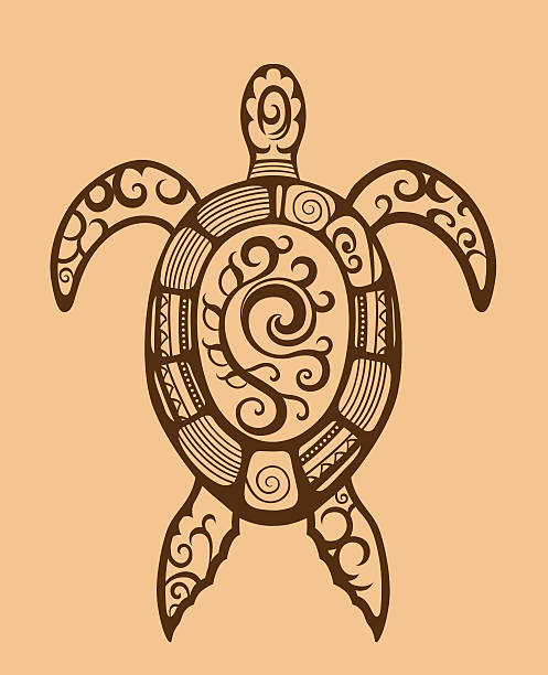43 Tribal Turtle Tattoos Designs Cartoons Illustrations Royalty