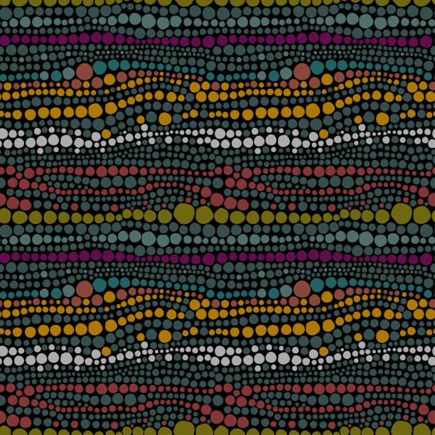 ethnische muster der farbe perlen - perlenweben stock-grafiken, -clipart, -cartoons und -symbole