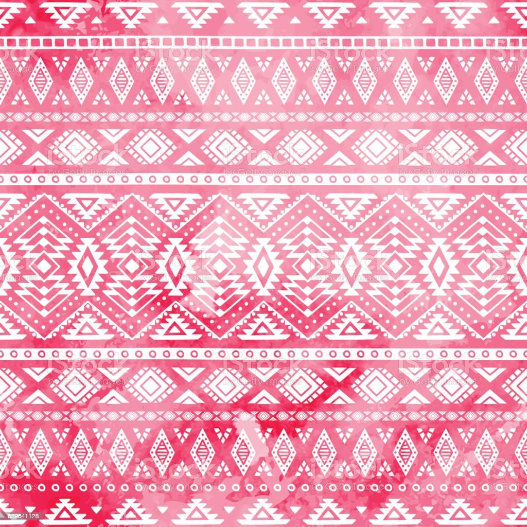 Ethnic pattern painted by hand. vector art illustration