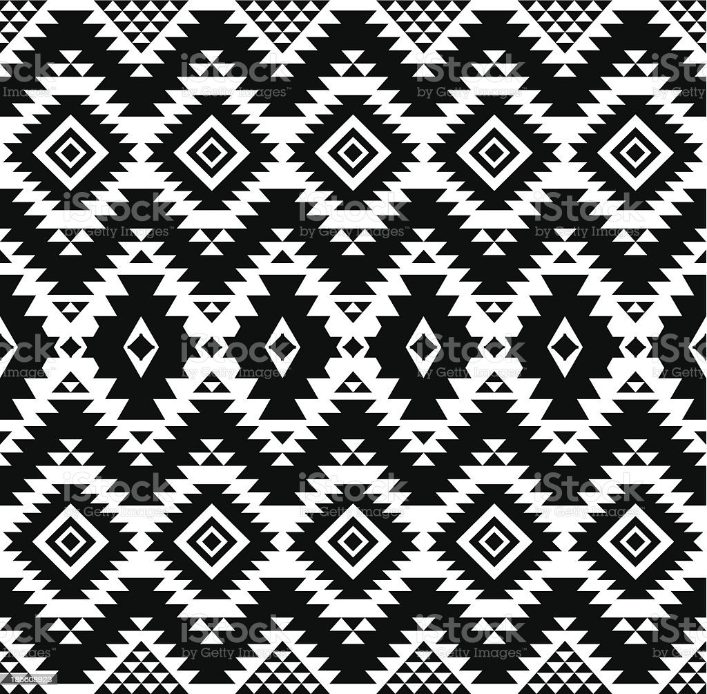 Ethnic pattern vector art illustration