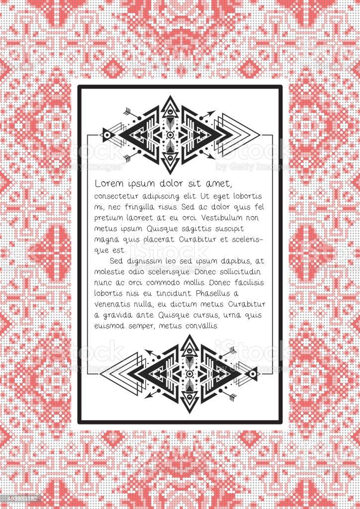 Angebot Ethnische Muster Mit Blankovorlage Auf Sie Ukrainischen Folk