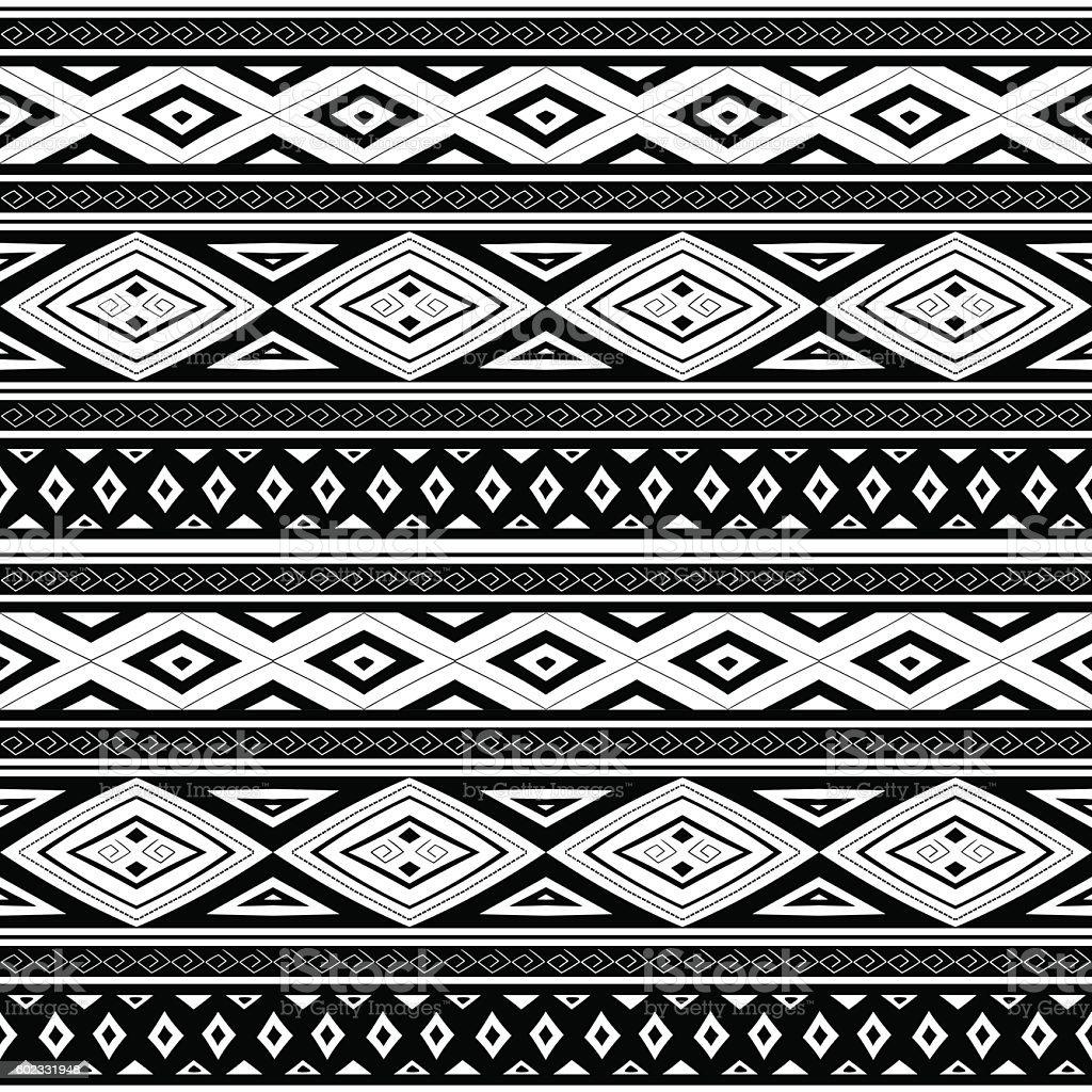 Ethnic Peruvian pattern monochrome tribal vector vector art illustration
