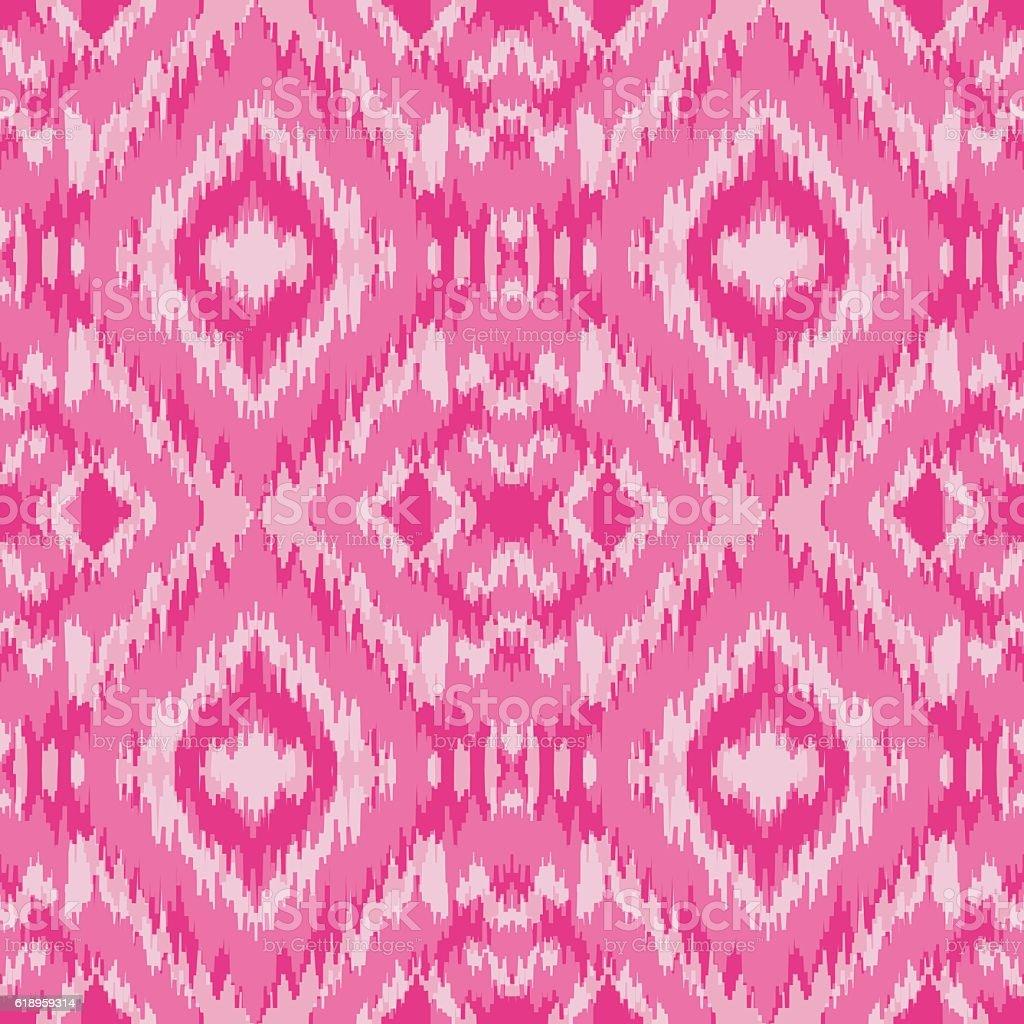 Ethnic pink seamless pattern vector art illustration