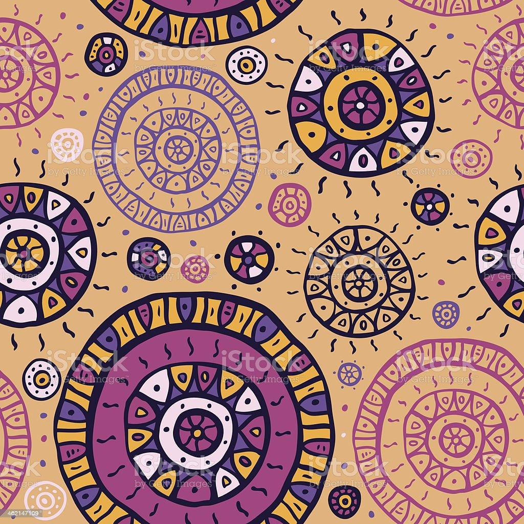 Ethnic seamless background. vector art illustration