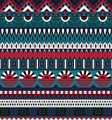 Ethnic seamless pattern. Geometric tribal ornament. Folk style. Colorful abstract background