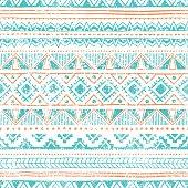 Ethnic seamless pattern. Grungy texture.