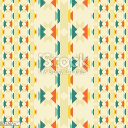 istock Ethnic seamless pattern in native style. 477272785