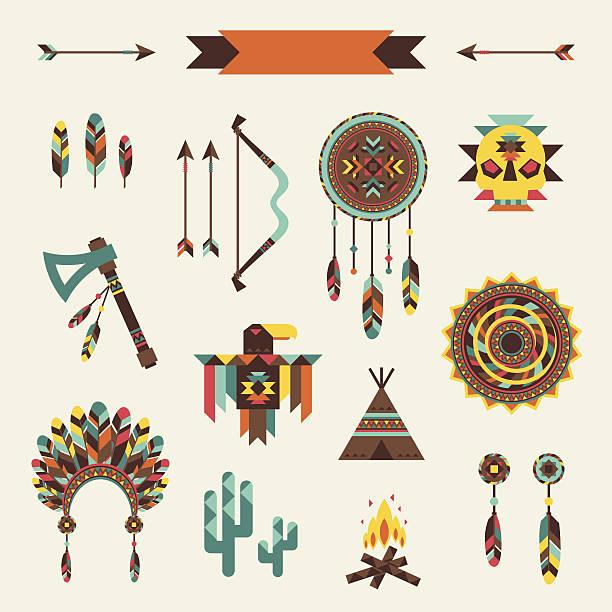 Étnico padrão sem emendas em estilo nativo. - ilustração de arte em vetor