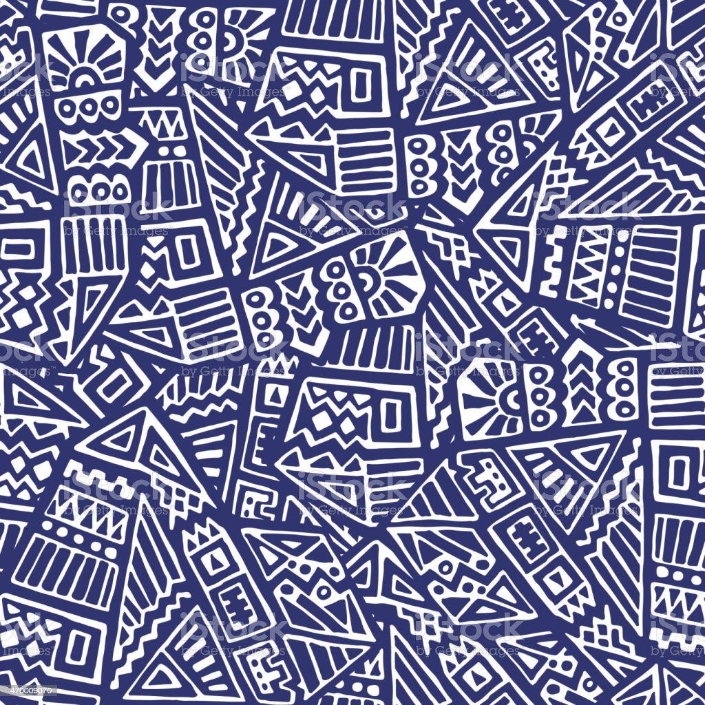 Ethnic Seamless Pattern vector art illustration
