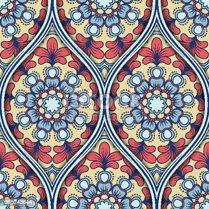 Ethnic Seamless Pattern - Stockowe grafiki wektorowe i więcej obrazów Abstrakcja 965243644