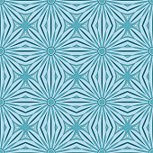 Ethnic seamless vector pattern. Blue flower mandalas. Can be used for design of fabric, covers, wallpapers, tiles.