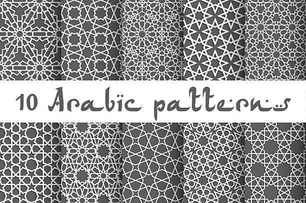 illustrazioni stock, clip art, cartoni animati e icone di tendenza di etnico illustrazione vettoriale senza cuciture - medio oriente