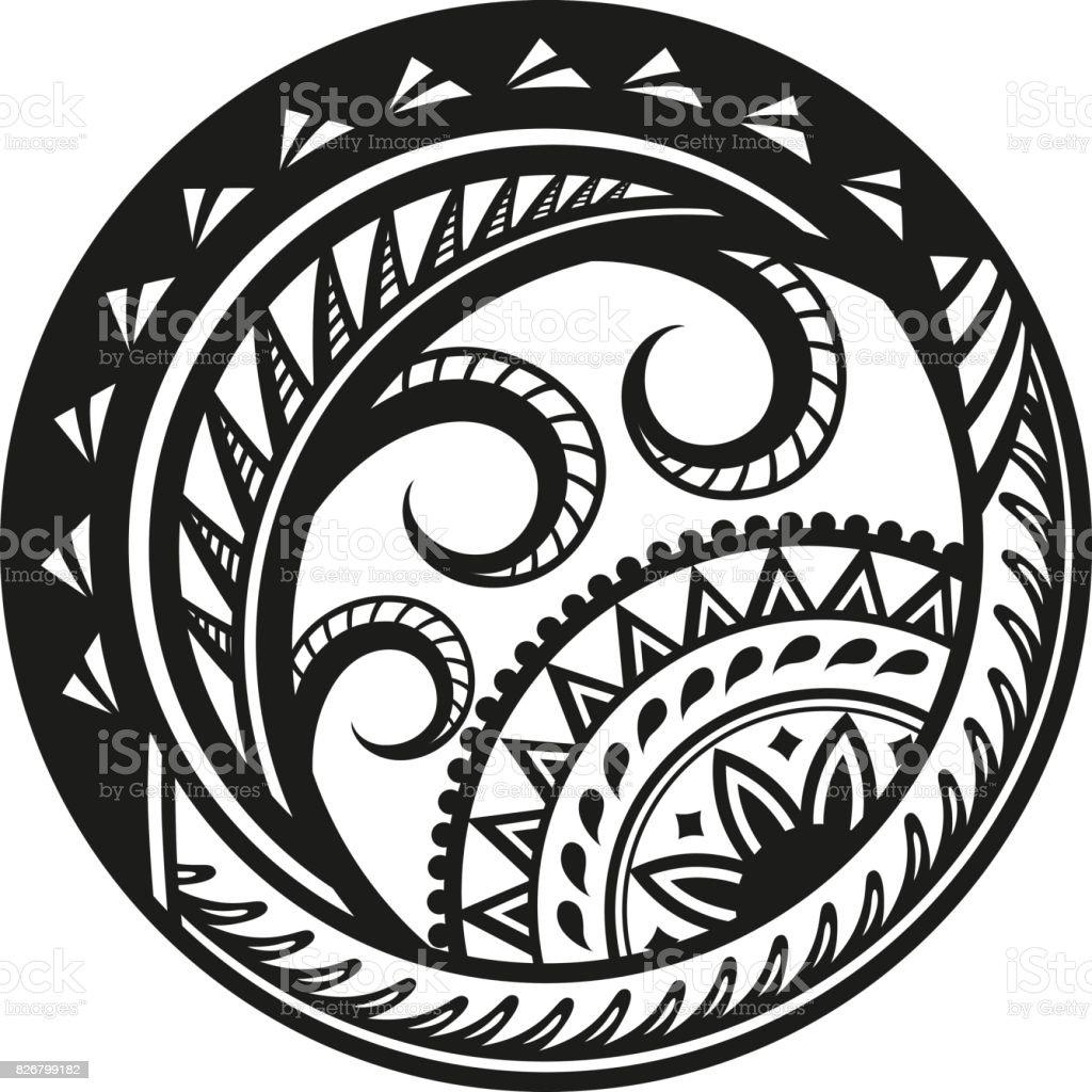 Ethnic style sticker vector art illustration