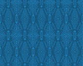 Vector Seamless Pattern in Ethnic Style. Creative tribal endless ornament, perfect for textile design, wrapping paper, wallpaper or site background. Trendy hand drawn boho tile.