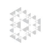 Ethnic symbol in a geometric and symmetrical design.