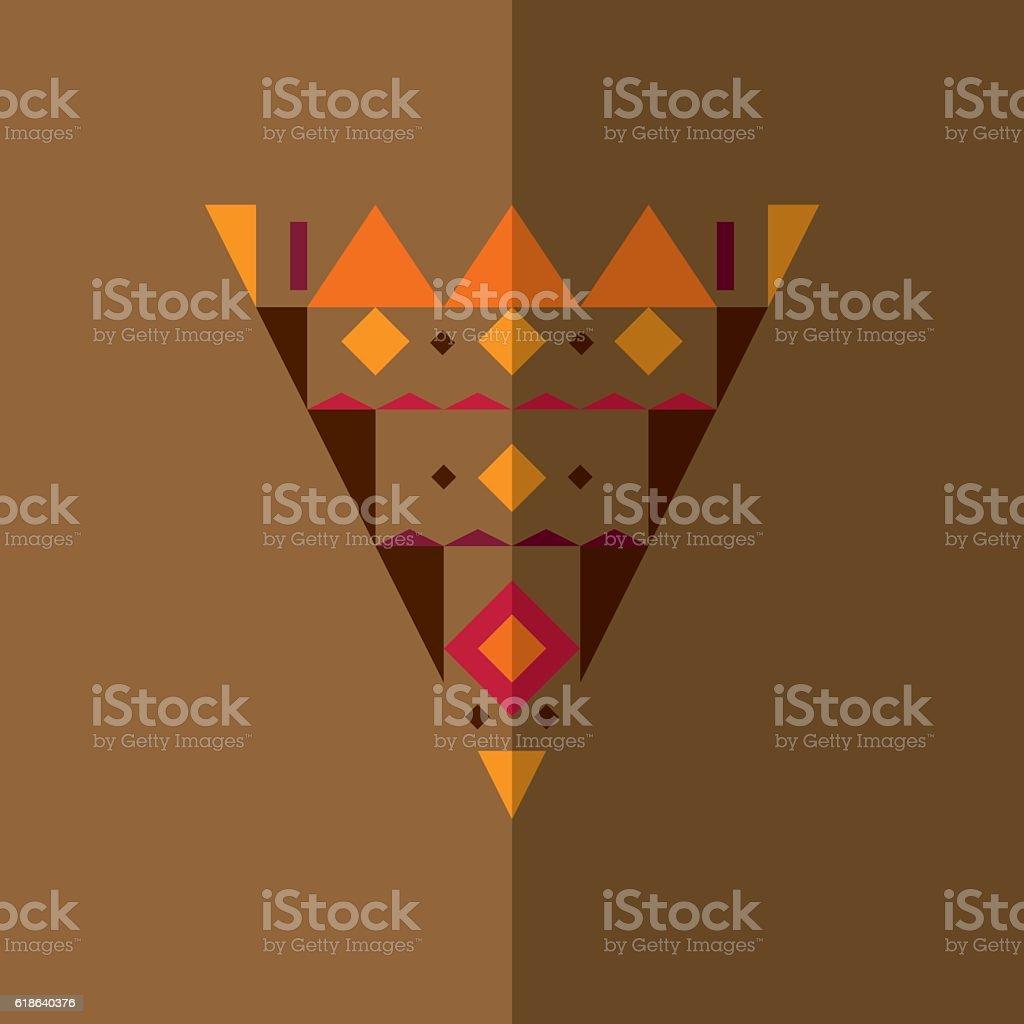 Ethnic triangle 2 vector art illustration