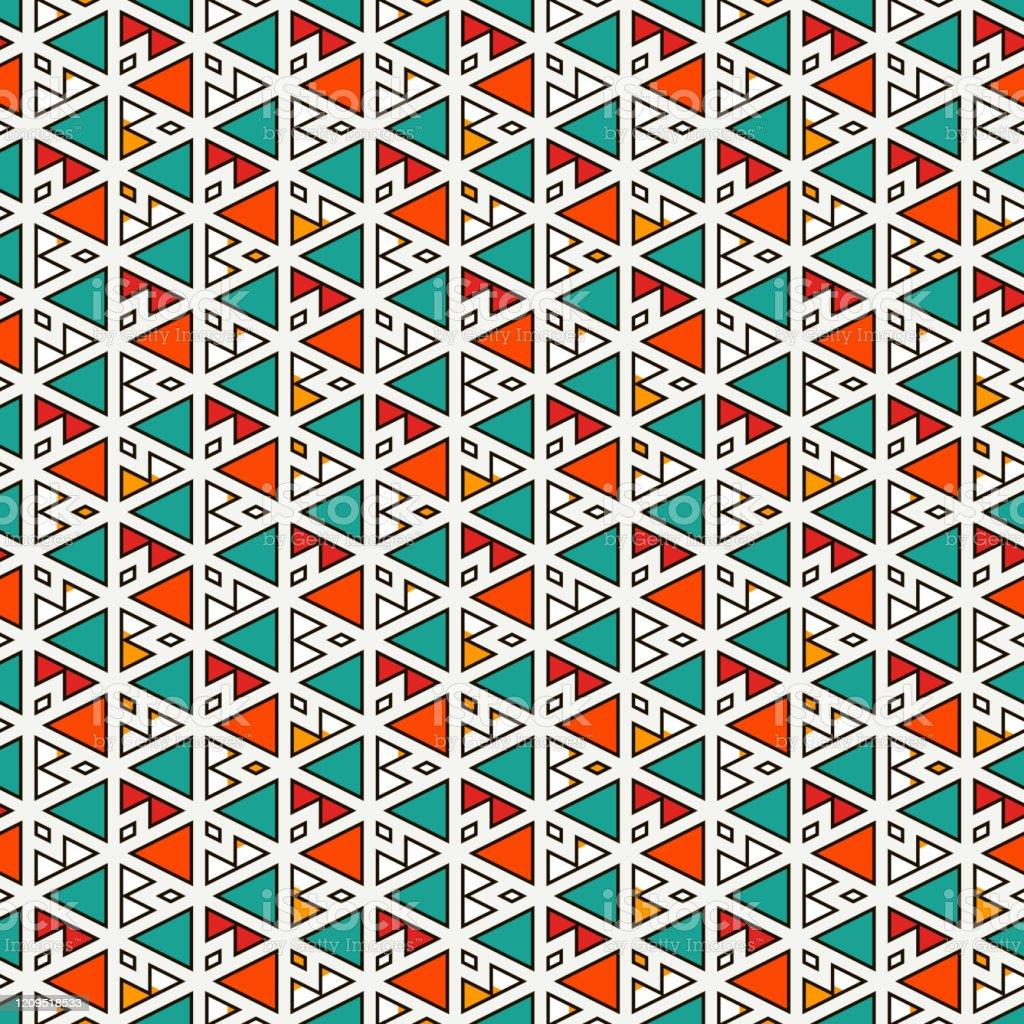 民族部族のシームレスな表面パターンネイティブアメリカンスタイルの背景三角形のモチーフを繰り返します現代の抽象的な幾何学的な壁紙ボホシックデジタルペーパーテキス しみのベクターアート素材や画像を多数ご用意 Istock