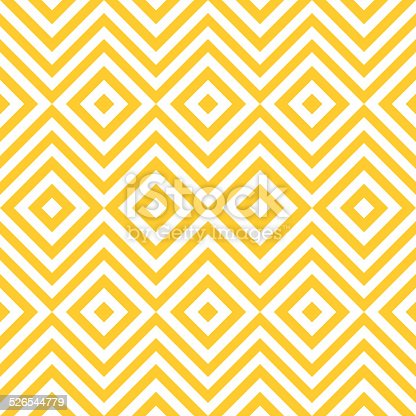Ethnic tribal zig zag and rhombus seamless pattern. Vector illustration for beauty fashion design. Yellow white colors. Vintage stripe style.