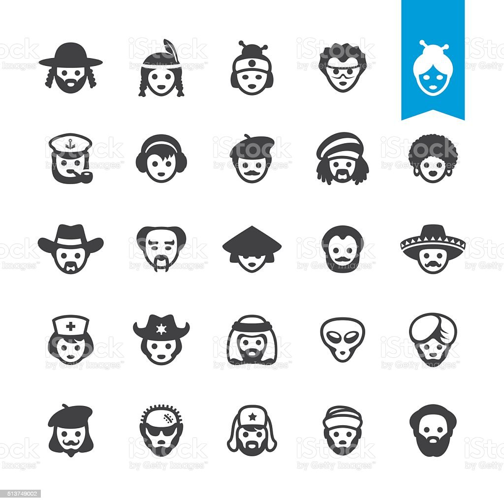 Ethnicity vector characters vector art illustration