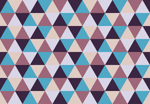 Ethno triangular seamless pattern.Low poly geometric background. Different colors design.