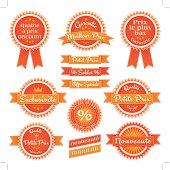 Set d'étiquettes vectoriels petit prix, soldes et discount en français. Layered and groupped, 300dpi 25x25 cm jpg incl. EPS 10, transparency used.