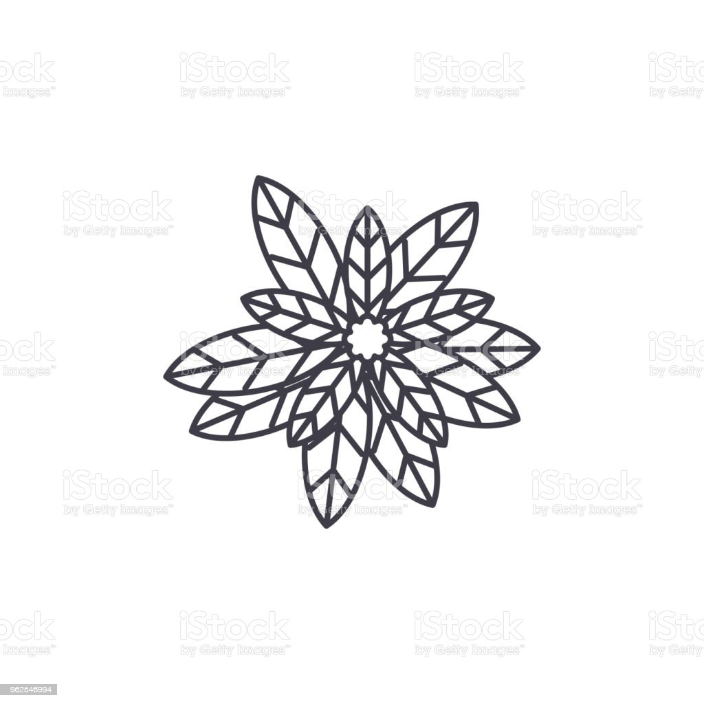 Conceito de ícone de linha de eucalipto. Eucalipto liso vector sinal, símbolo, ilustração. - Vetor de Austrália royalty-free