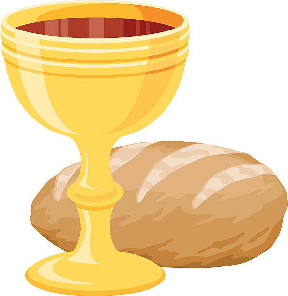 eucharist (communion) - communion stock illustrations, clip art, cartoons, & icons
