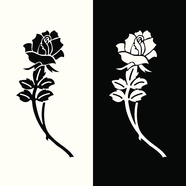 eulogy rose - tombstone stock illustrations
