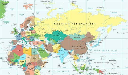 Carte Afrique Vectorielle.Eurasia Europa Russie Chine Inde Indonesie Thailande Carte Afrique Illustration Vectorielle Vecteurs Libres De Droits Et Plus D Images Vectorielles De