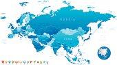 Eurasia - highly detailed map