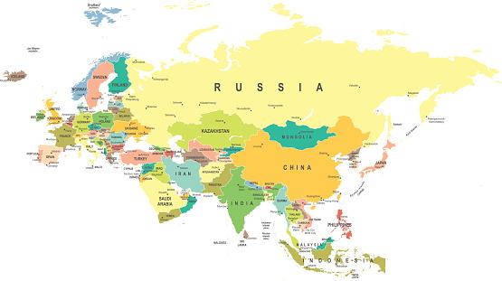 Eurasia - map - illustration