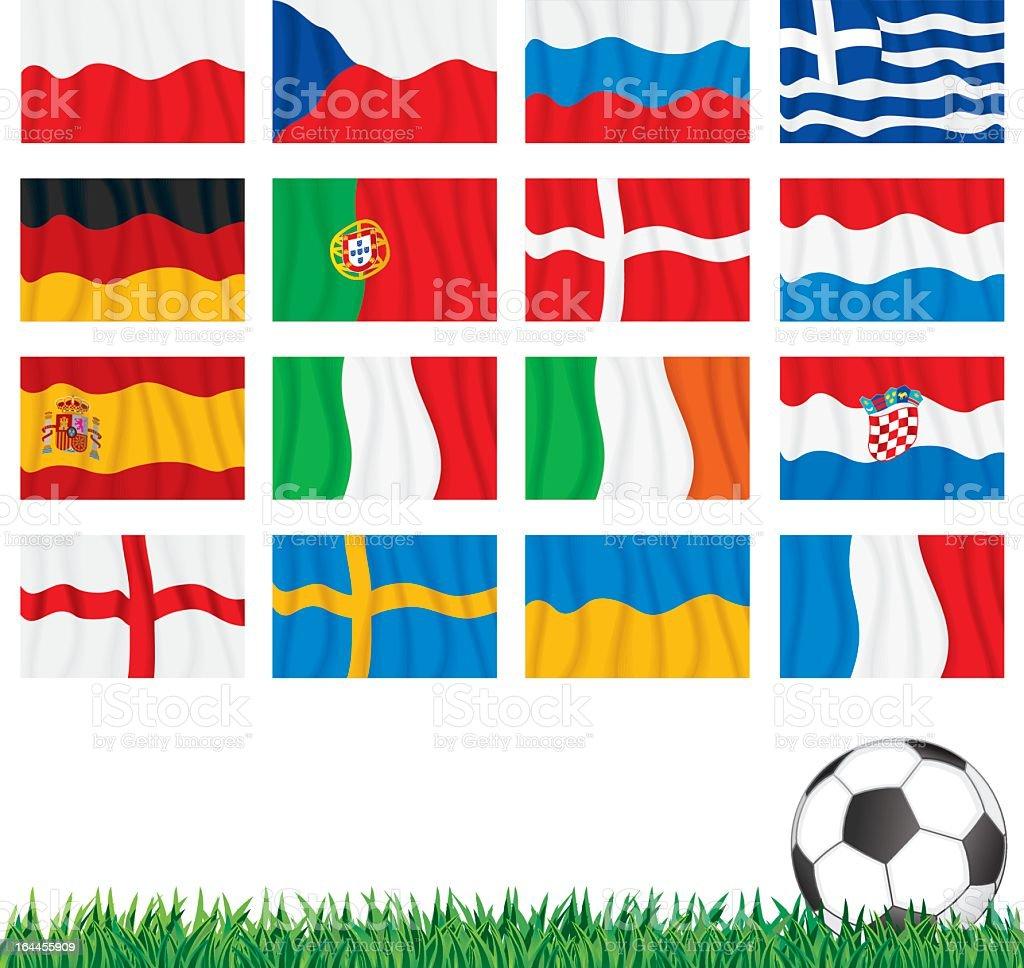 UEFA Euro 2012 Flags royalty-free stock vector art