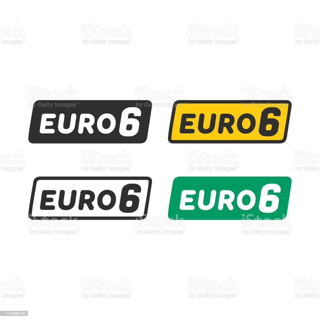 Euro 6 Symbol Stock Vektor Art Und Mehr Bilder Von Abgas