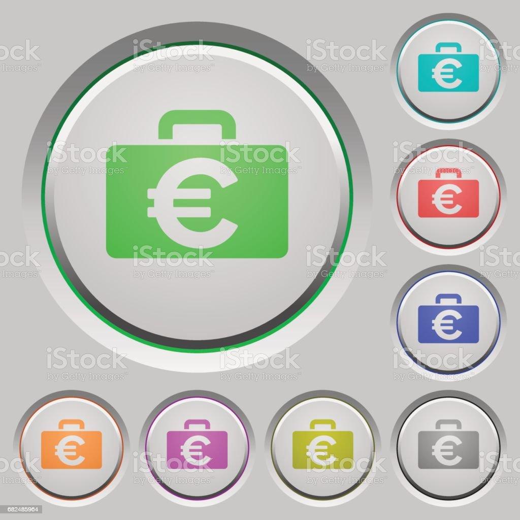 Euro bag push buttons euro bag push buttons - immagini vettoriali stock e altre immagini di abbondanza royalty-free