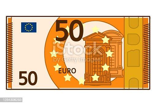 istock 50 euro banknote. 1254306253