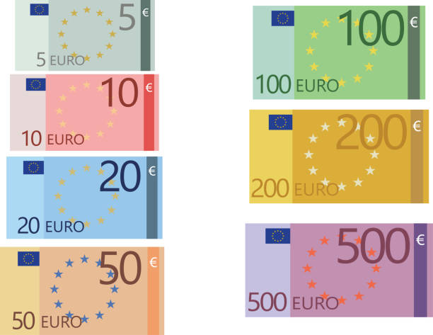 Collection de billets en euro - Illustration vectorielle