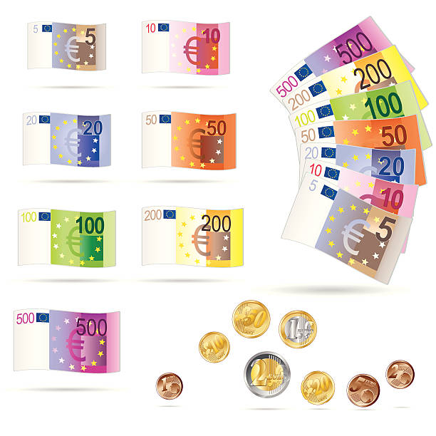 money - euros cash stock-grafiken, -clipart, -cartoons und -symbole