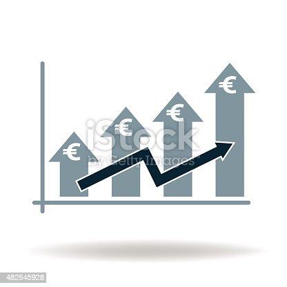 euro business money graf vector