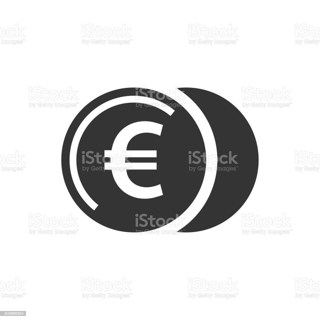 Icône de pièces de monnaie euro - Illustration vectorielle