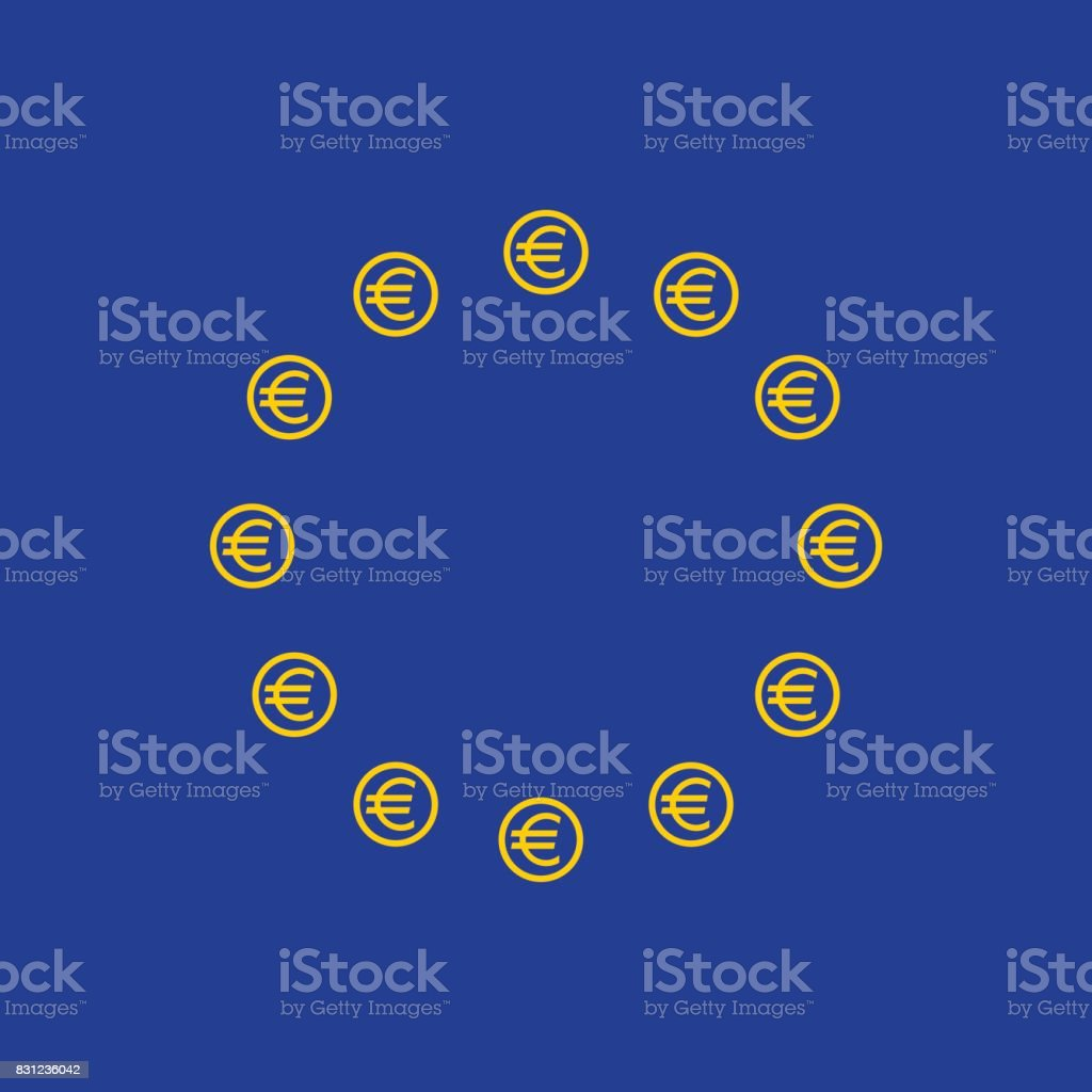 Euro dollar pattern tile vector art illustration