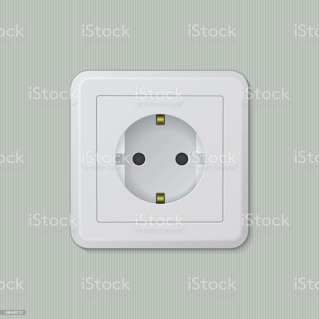 Euro electric socket 01 royalty-free stock vector art