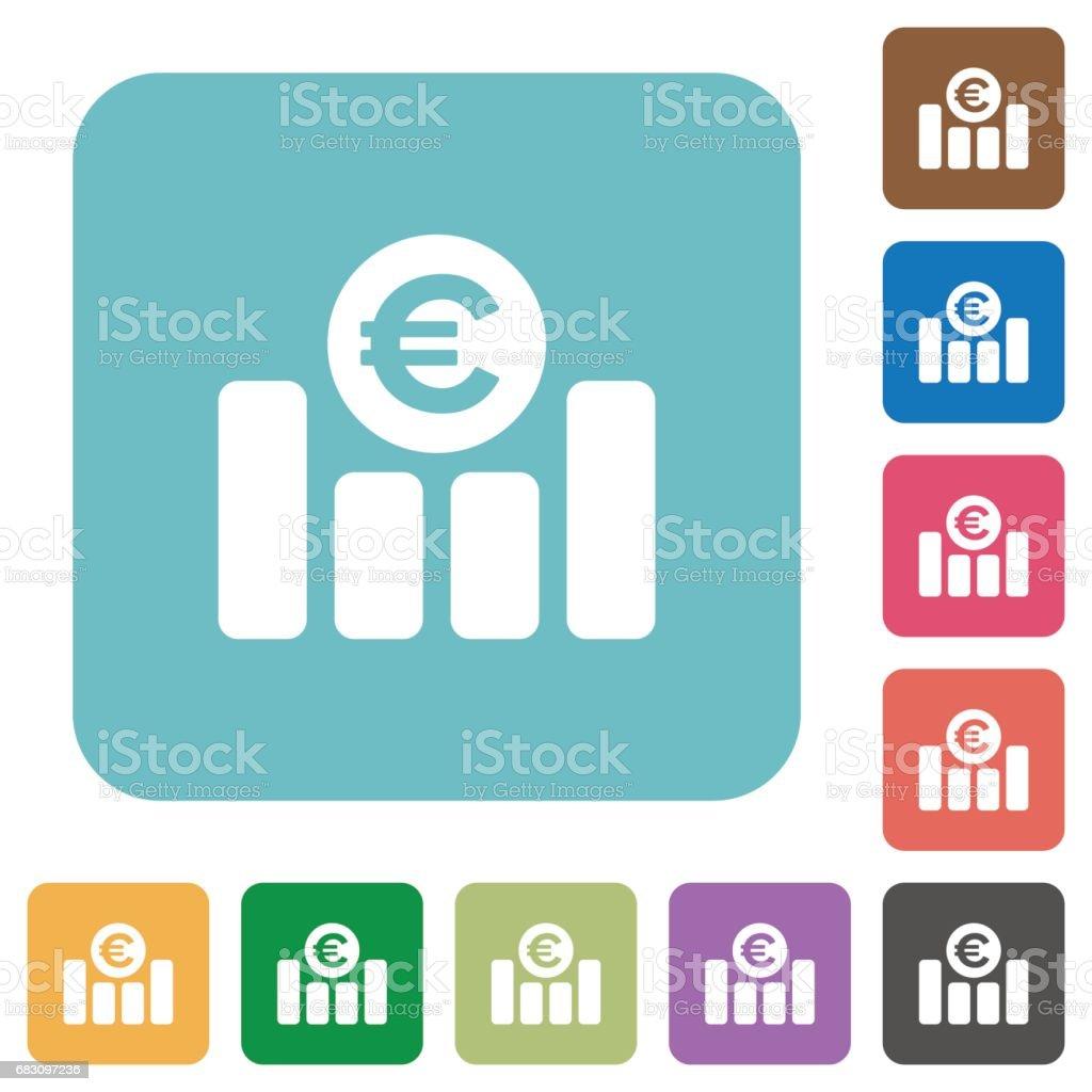 Euro graph flat icons euro graph flat icons - arte vetorial de stock e mais imagens de analisar royalty-free