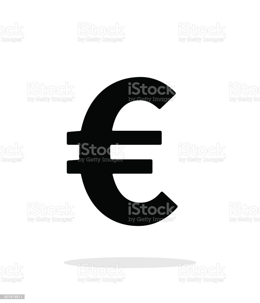 Euro icon on white background. vector art illustration