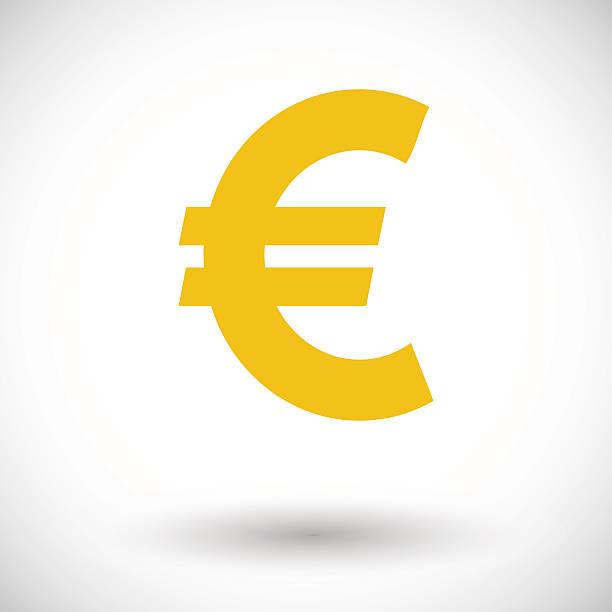 Euro icon Euro. Single flat icon on white background. Vector illustration. euro symbol stock illustrations