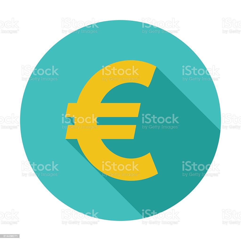Euro icon. vector art illustration
