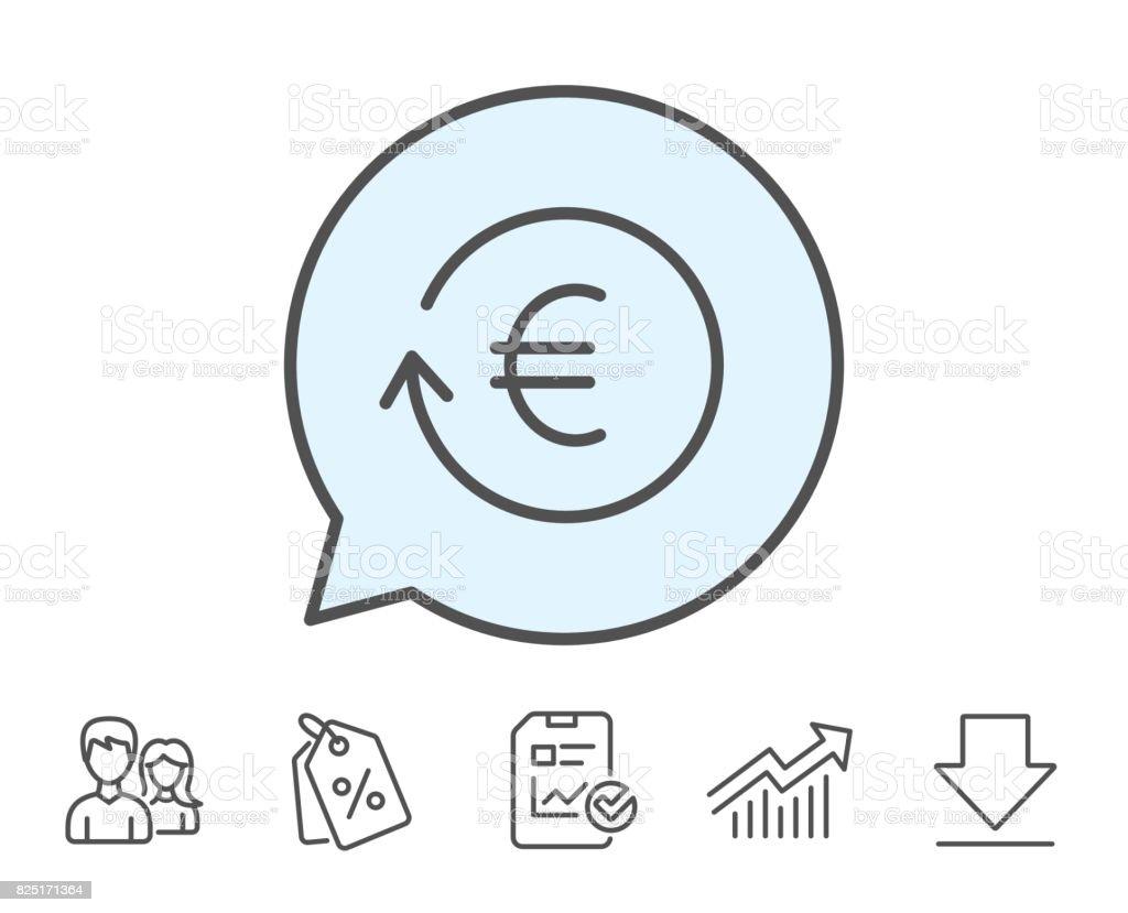 Euro money exchange line icon banking currency stock vector art bank chart data market eur euro money exchange nvjuhfo Images