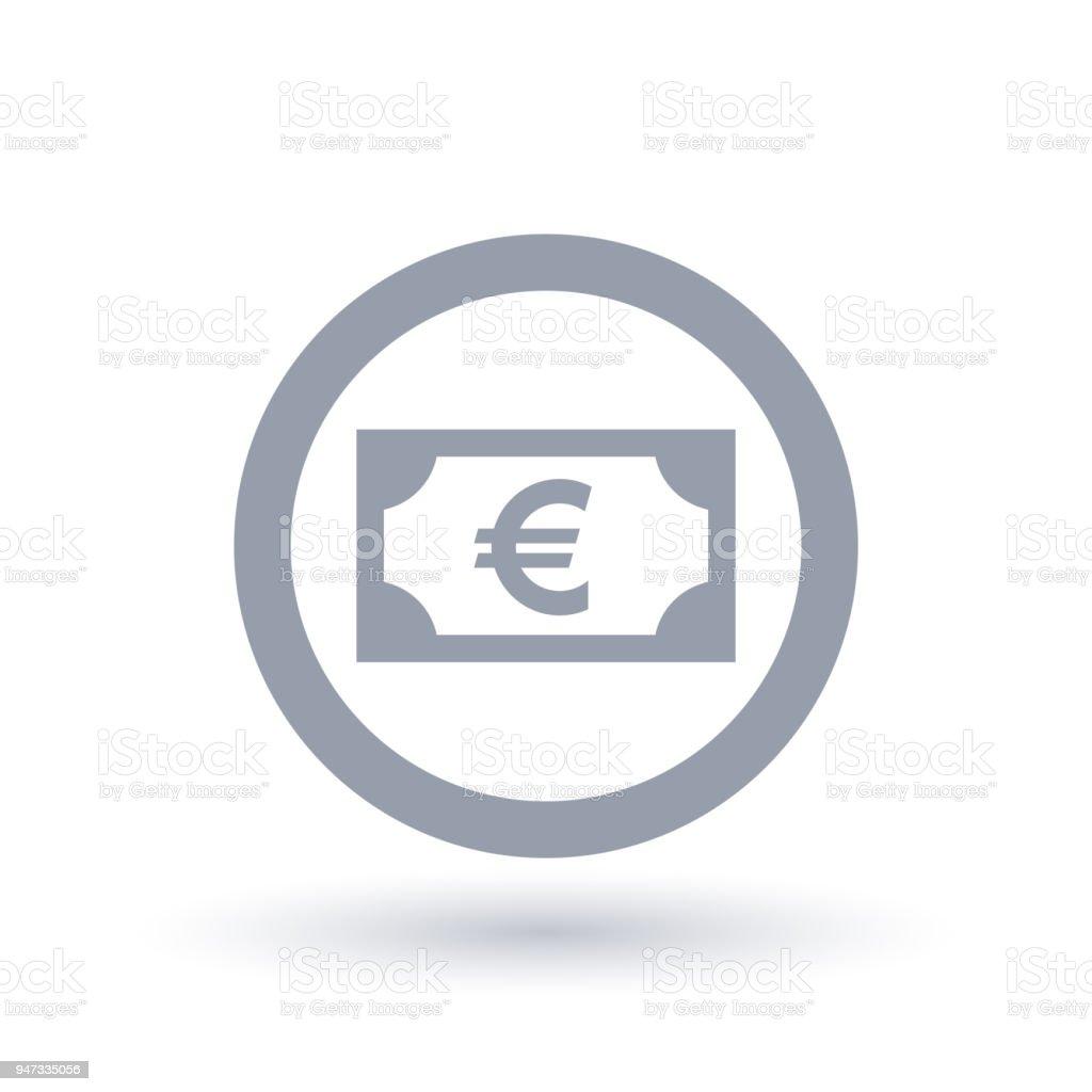 Euro Money Symbol European Paper Currency Icon Stock Vector Art