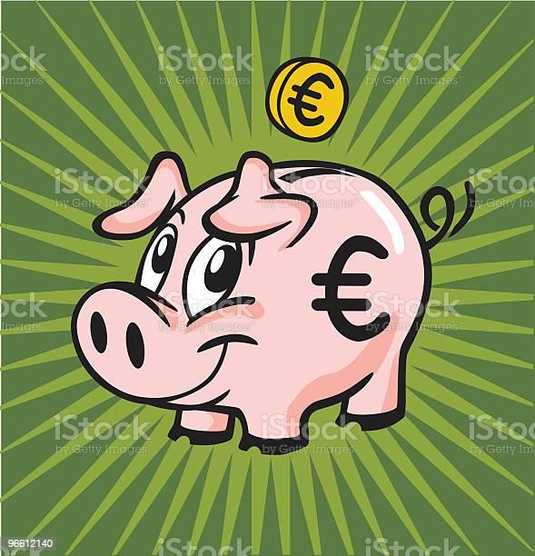 Euro Piggy Bank-vektorgrafik och fler bilder på Bankväsen