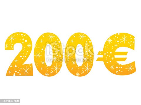 200 Euro Sign Icon Symbol Stock Vector Art More Images Of Currency
