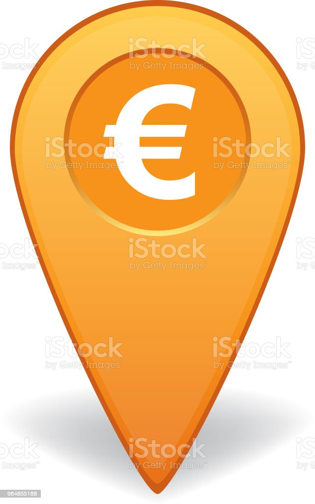 Euro sign map pointers for GPS navigation royalty-free euro sign map pointers for gps navigation stock vector art & more images of advice
